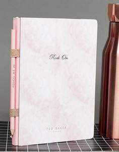 Маленький блокнот и ручка Ted Baker - Мульти