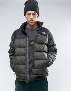 Пуховая куртка с принтом The North Face Nuptse2 - Зеленый
