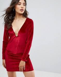 Бархатное платье Oeuvre - Красный