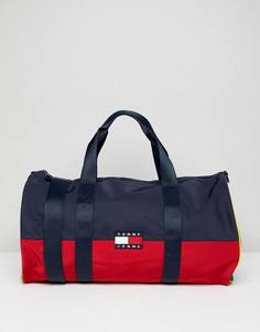 Сумка дафл колор блок в стиле 90-х (темно-синий/красный) Tommy Jeans Capsule - Мульти