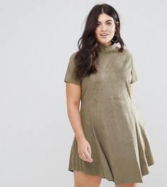 Свободное платье из искусственной замши AX Paris plus - Зеленый