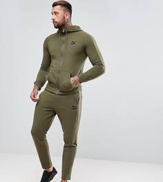 Зауженный спортивный костюм цвета хаки Puma эксклюзивно для ASOS - Зеленый