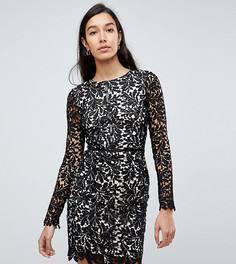 Кружевное платье А-силуэта Parisian Tall - Черный