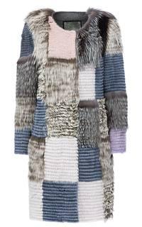 Шуба из натурального меха в технике пэчворк Virtuale Fur Collection
