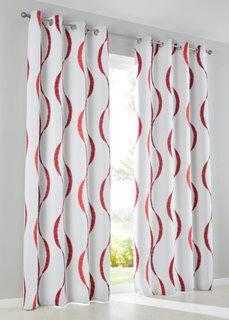 Затемняющая штора Вена, люверсы (кремовый/бордовый) Bonprix
