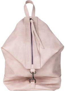 Рюкзак с молнией (винтажно-розовый) Bonprix