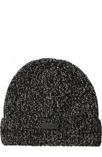 Шерстяная шапка фактурной вязки Belstaff