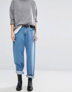 Прямые джинсы в стиле 90-х с заниженной талией Dr Denim Muse - Синий