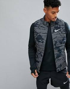 Черный жилет со светоотражающим эффектом Nike Running 859214-010 - Черный