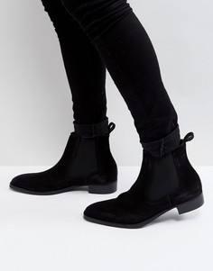 Черные замшевые ботинки челси ALDO Oneillan - Черный