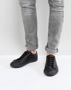 Черные кеды на шнуровке ASOS - Черный