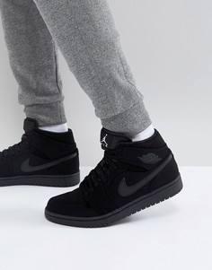 Черные кроссовки средней высоты Nike Air Jordan 1 554724-040 - Черный