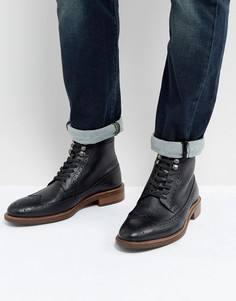 Черные ботинки-броги Dune - Черный