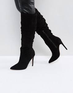 Сапоги с острым носком ASOS CORA - Черный