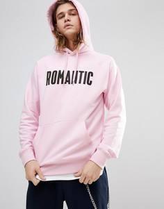 Худи розового цвета с принтом Romantic Wood Wood - Розовый