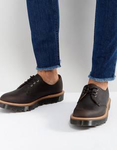 Туфли с 3 парами люверсов и зубчатой подошвой Dr Martens Made In England 1461 Ripple - Черный
