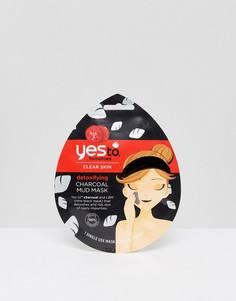 Детоксифицирующая грязевая маска с экстрактом древесного угля Yes To Tomatoes - Бесцветный