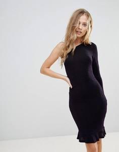 Облегающее платье на одно плечо Oh My Love - Фиолетовый