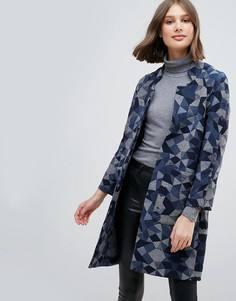 Пальто оверсайз с добавлением шерсти Pepe Jeans Geometrie - Мульти