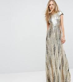 Платье макси с пайетками TFNC - Золотой