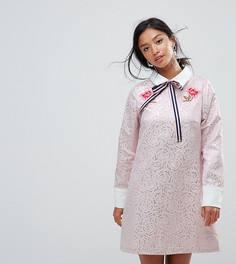 Платье мини с вышивкой Sister Jane Petite - Фиолетовый