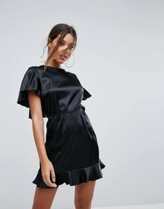 Платье мини с расклешенными рукавами Lioness - Черный
