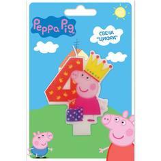 Свеча Peppa Pig «Цифра 4»