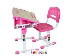 Комплект мебели FunDesk «Bambino» стол 66х47 см и стул розовый