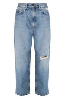 Укороченные джинсы с прорезями Jeanne MiH Jeans