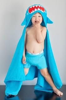 Голубое полотенце с капюшоном Zoocchini
