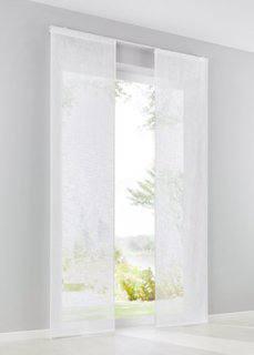 Японская штора Тора (1 шт.), Шина с лентой велкро (белый) Bonprix