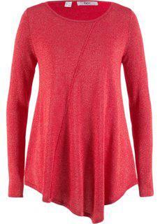 Пуловер с длинным рукавом и люрексом (серебристый матовый) Bonprix