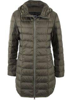Легкое пальто-пуховик (темно-оливковый) Bonprix