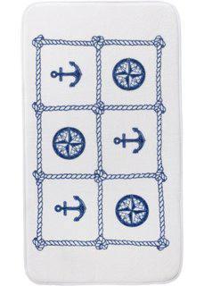 Коврик для ванной Якорь, пена с эффектом памяти (синий) Bonprix