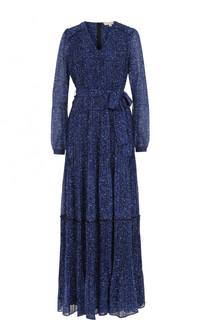Приталенное платье-макси с поясом MICHAEL Michael Kors