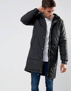 Длинная стеганая куртка Another Influence - Черный