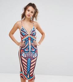 Платье миди на бретельках с геометрическим принтом Ginger Fizz - Мульти