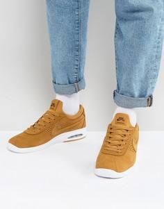 Бежевые кожаные кроссовки Nike SB Bruin Max Vapor 923111-772 - Бежевый