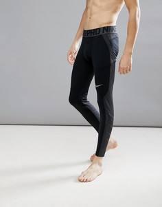 Черные тайтсы Nike Training Pro Hyperwarm 838016-010 - Черный