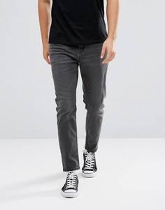 Черные зауженные книзу джинсы ASOS - Черный