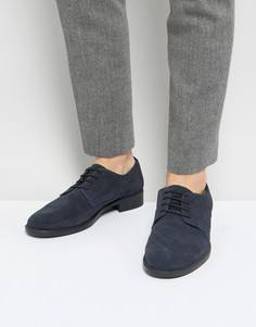 Темно-синие замшевые туфли на шнуровке Frank Wright - Синий