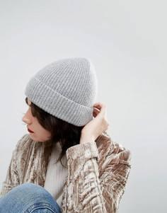 Шапка-бини из кашемира и шерсти ASOS - Серый