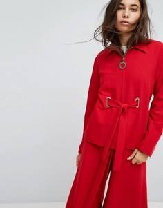Куртка с люверсами Hanger - Красный