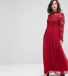 f1e4fe2db8d Платье макси из шифона с рукавами длиной 3 4 Club L Plus - Мульти