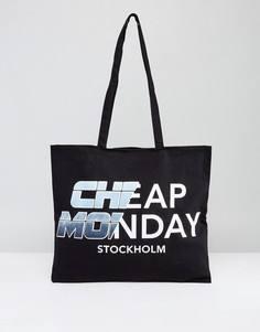 Сумка-тоут с логотипом Cheap Monday - Черный
