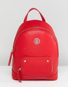 Рюкзак с полосатыми лямками и логотипом Tommy Hilfiger - Красный