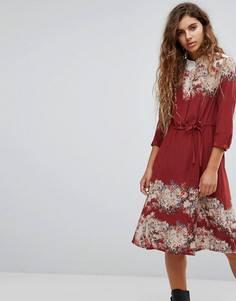 Платье-рубашка All Saints Volta Clement - Красный