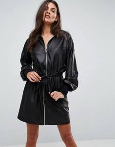 Спортивное платье из искусственной кожи ASOS - Черный