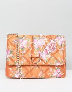 Атласная сумка с принтом ASOS HERO - Оранжевый