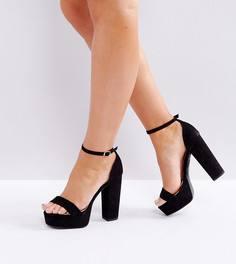 Босоножки на платформе для широкой стопы New Look - Черный